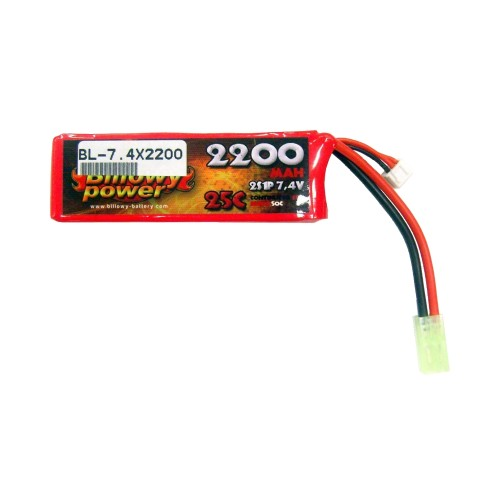 BILLOWY POWER LI-PO BATTERY 7.4V X 2200MAH 25C (BL-7.4X2200)