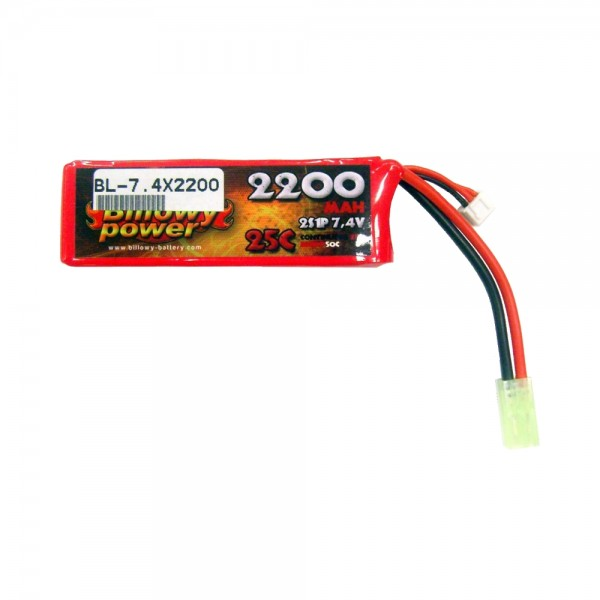 BILLOWY POWER BATTERIA LI-PO 7.4V X 2200MAH 25C (BL-7.4X2200)