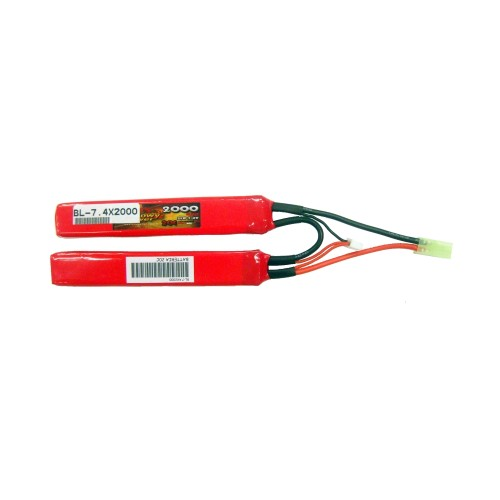 BILLOWY POWER LI-PO BATTERY 7.4V X 2000MAH 20C (BL-7.4X2000)