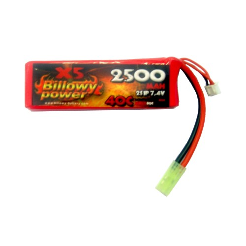 BILLOWY POWER LI-PO BATTERY 7.4V X 2500MAH 40C (BL-7.4X2500)