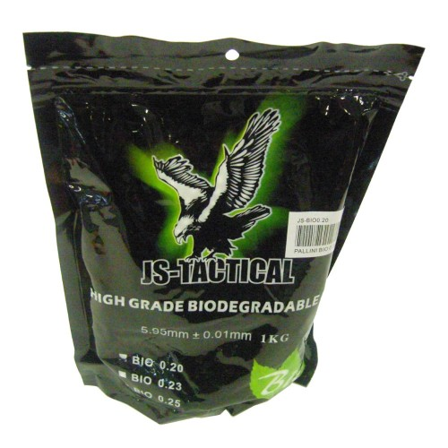JS-TACTICAL BIODEGRADABLE BALL PELLETS 0.20G WHITE (JS-BIO0.20)