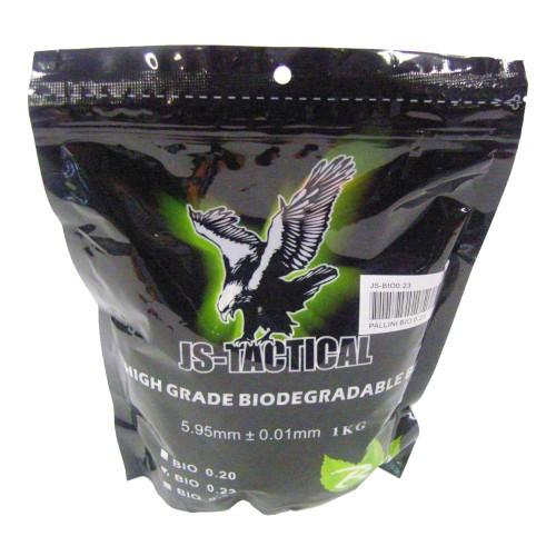 JS-TACTICAL BIODEGRADABLE BALL PELLETS 0.23G WHITE (JS-BIO0.23)