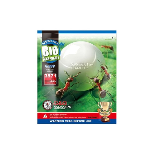 G&G BIO BALL PELLETS 0.28g WHITE (G&G BIO 0.28)