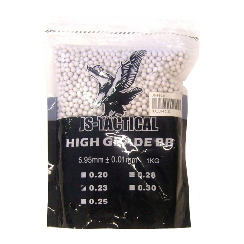 JS-TACTICAL BALL PELLETS 0.23G WHITE (JS-BB0.23)