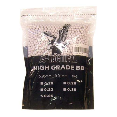 JS-TACTICAL BALL PELLETS 0.25G WHITE (JS-BB0.25)